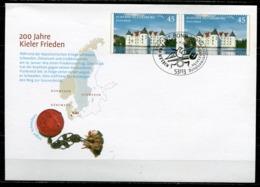 """Germany 2014 Plusbrief Schloss Grlücksburg Mi.Nr.??? Mit SST""""Bonn 200 Jahre Kieler Frieden""""1 FDC - Schlösser U. Burgen"""