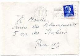 PARIS 71 / PL VICTOR HUGO (16e) 1958 = FLAMME SECAP ' BONS PTT 6% = SECURITE 100%' - Oblitérations Mécaniques (flammes)