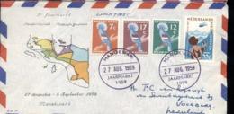 Nieuw Guinea - Manokwari - Luchtpost - 1959 - Jaarmarkt - 3 - Postwaardestukken