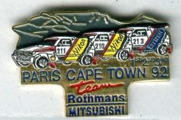 Pin's Rallye Paris-Cape Town Dakar 1992 Mitsubishi - Rally