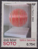 Art, Peinture - FRANCE - Jésus Raphael Soto, Sphère Concorde - N° 3535 ** - 2002 - Nuevos