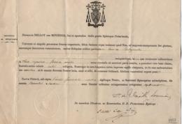 VP16.035 - 1887 - Document En Latin - Monseigneur Henricus BELLOT Des MINIERES Evêque De POITIERS - Religion & Esotericism