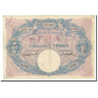 France, 50 Francs, Bleu Et Rose, 1900-01-10, TB, Fayette:14.12, KM:64b - 50 F 1889-1927 ''Bleu Et Rose''