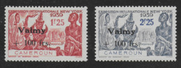 CAMEROUN 1943 YT 240/241* - VALMY - Cameroun (1915-1959)
