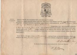 VP16.039 - 1895 - Document En Latin - Monseigneur Henricus PELGE Evêque De POITIERS - Religion & Esotericism