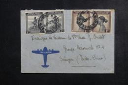 CONGO BELGE - Enveloppe De Léopoldville Pour Soldat à Saïgon En 1946 Par Avion, Affranchissement Plaisant - L 46284 - Congo Belge