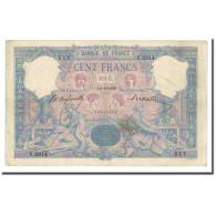 France, 100 Francs, Bleu Et Rose, 1900-04-14, TTB, Fayette:21.13, KM:65b - 1871-1952 Anciens Francs Circulés Au XXème
