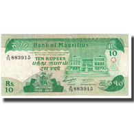 Billet, Mauritius, 10 Rupees, KM:35a, TTB - Maurice