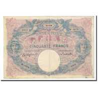 France, 50 Francs, Bleu Et Rose, 1899-09-15, TB, Fayette:14.11, KM:64b - 50 F 1889-1927 ''Bleu Et Rose''