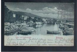 CROATIA Abbazia Hafen Und Landungsplatz 1898 Old Postcard - Croacia