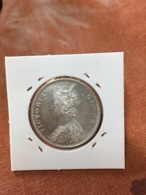 BRITISH INDIA /INDIE BRITANIQUE ONE RUPEE 1876 DOT KM# 473.2 SILVER 11,66*917 RARE ET RARE ETAT A31 - India