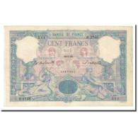 France, 100 Francs, Bleu Et Rose, 1899-09-29, TTB+, Fayette:21.12, KM:65b - 1871-1952 Anciens Francs Circulés Au XXème