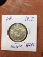 GUINEA BISSAU 10$ 1952 SILVER KM# 10 RARE ET TRES RARE ETAT POUR MOI UNC - Guinea-Bissau