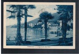 CROATIA Abbazia Lungomaredel Sud 1929 Old Postcard - Croacia