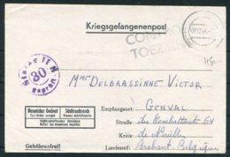1944 Germany Kriegsgefangenpost POW Stalag II-B Hammerstein Czarne Pomerania Censor - Belgium. - Germany