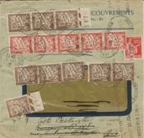 Taxe Cumulative De Poste Restante (8 Lettres X30c = 2Frs40) Sur Lettre De Lyon Pour Paris Réexpediée A Bordeaux - 11/36 - Storia Postale