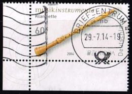 Bund 2014,Michel# 3078 O  Europa (C.E.P.T.) 2014 - Musical Instruments Eckrandstück - Oblitérés
