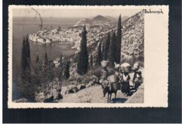 CROATIA Dubrovnik 1936 Old Photo Postcard - Croacia