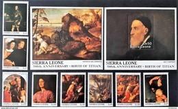 # Sierra Leone 1988**Mi.1112-21 Painting-Titian , MNH [22,50] - Künste