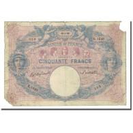 France, 50 Francs, Bleu Et Rose, 1899-04-12, B, Fayette:14.11, KM:64b - 50 F 1889-1927 ''Bleu Et Rose''