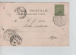 CBPN6/ Tunisie CP Place L'Algérienne Tunis C.Ouedelabid 21/8/04 Régence De Tunis > Dijon C.d'arrivée + C.Passage Mel.. - Tunisia (1888-1955)