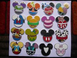 16 Big Pin S DISNEY MASQUES 3 X 3 Cm Tbq 2 Photos - Disney