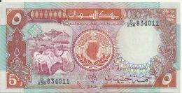 SOUDAN 5 POUNDS 1991 UNC P 45 - Sudan