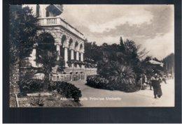CROATIA Abbazia Caffè Principe Umberto Ca 1930 Old Photo Postcard - Croacia