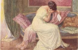 """J. Kranzle- Lady. Peine De Coeur"" Fine Painting Vintage Postcard - Mujeres"