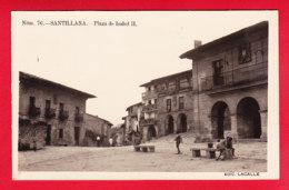 E-Espagne-526P90 SANTILLANA, Plaza De Isabel II, Animation, Type Photo BE - Cantabria (Santander)