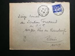 Enveloppe Avec Cachet Ambulant BELFORT A MULHOUSE - 1921-1960: Modern Period