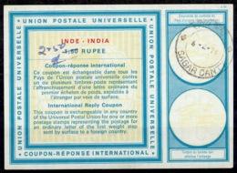 INDE / INDIA Vi21 ms. 2.50 / 1,50 RUPEE International Reply Coupon Reponse Antwortschein IRC IAS o SAGAR CANTY 4.2.7 - Sin Clasificación