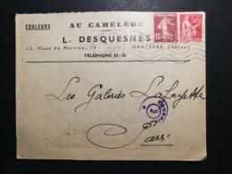 Seine. Enveloppe Avec Oblitération De Nanterre - 1921-1960: Modern Tijdperk