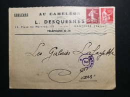 Seine. Enveloppe Avec Oblitération De Nanterre - 1921-1960: Modern Period