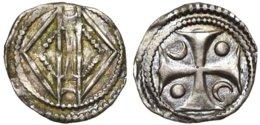 COMTÉ DE HAINAUT - Maille Jeanne De Constantinople [1206-1244] (0,51 G) (VH-G434, Nef Type 5)  Peu Courant ! - 476-1789 Lehnsperiode