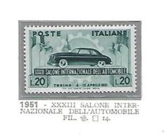 1951 - N. 655** (CATALOGO UNIFICATO) - 6. 1946-.. Repubblica