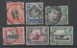 Kenya, Tanganyika, Uganda, Used, 1935, Michel 32, 34_37, 39 - Kenya, Uganda & Tanganyika
