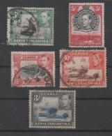 Kenya, Tanganyika, Uganda, Used, 1938, Michel 53, 55, 58, 68, 69 - Kenya, Uganda & Tanganyika