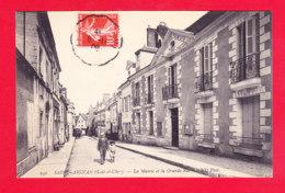 F-41-Saint Aignan-02A58  La Mairie Et La Grande Rue, Cpa BE - Saint Aignan