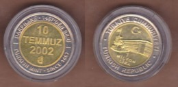 AC - 1 000 000 LIRA 10 JULY 2002 COMMEMORATIVE BIMETALLIC DAILY COIN TURKEY - Turchia