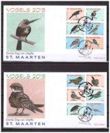 St. Maarten / Antillen 2015 FDC 44ab Vogels Birds Owl Hawk - Niederländische Antillen, Curaçao, Aruba