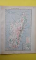 CARTE MADAGASCAR ÉCONOMIQUE 1930 - Carte Geographique