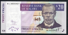 MALAWI P52d  20 KWACHA 2009  #BL      UNC. - Malawi