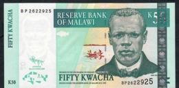 MALAWI P53d  50 KWACHA 2009  #BP      UNC. - Malawi
