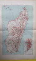 CARTE MADAGASCAR POLITIQUE Carte De Tananarive 1930 - Carte Geographique