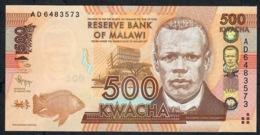 MALAWI P61a  500 KWACHA 2012  #AD      UNC. - Malawi