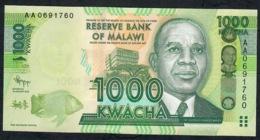 MALAWI P62a  1000 KWACHA 2012  #AA0      UNC. - Malawi