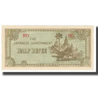 Billet, Birmanie, 1/2 Rupee, KM:13b, SPL - Myanmar