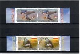 Georgia / South Ossetia . EUROPA 2019. National Birds. (Arms,Flag) 4v :25,25,35,35 - Georgia