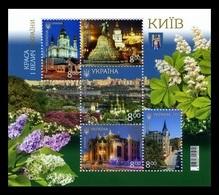Ukraine 2019 Mih. 1801/05 (Bl.160) Kiev. St Andrew's Church. Bohdan Khmelnytsky Monument. House With Chimaeras MNH ** - Ucrania
